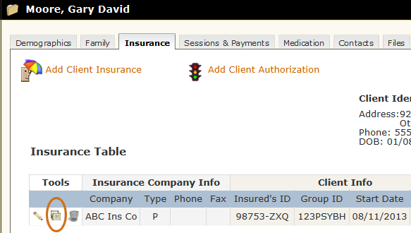 Deactivate Client Insurance tool