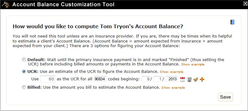 Account Balance Customization Tool