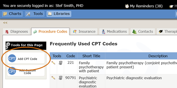 Libraries Add Cpt Code