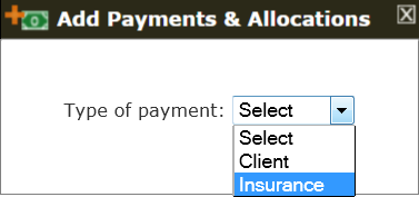 The Add Insurance Payment Tool