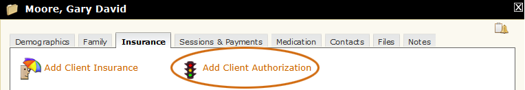 Add Client Authorization