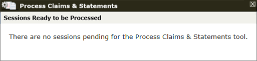 Process Claims & Statements empty