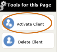 The Activate Client tool
