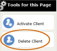 The Delete Client tool for archived clients